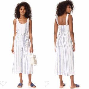 Crop Stripe Cotton Jumpsuit